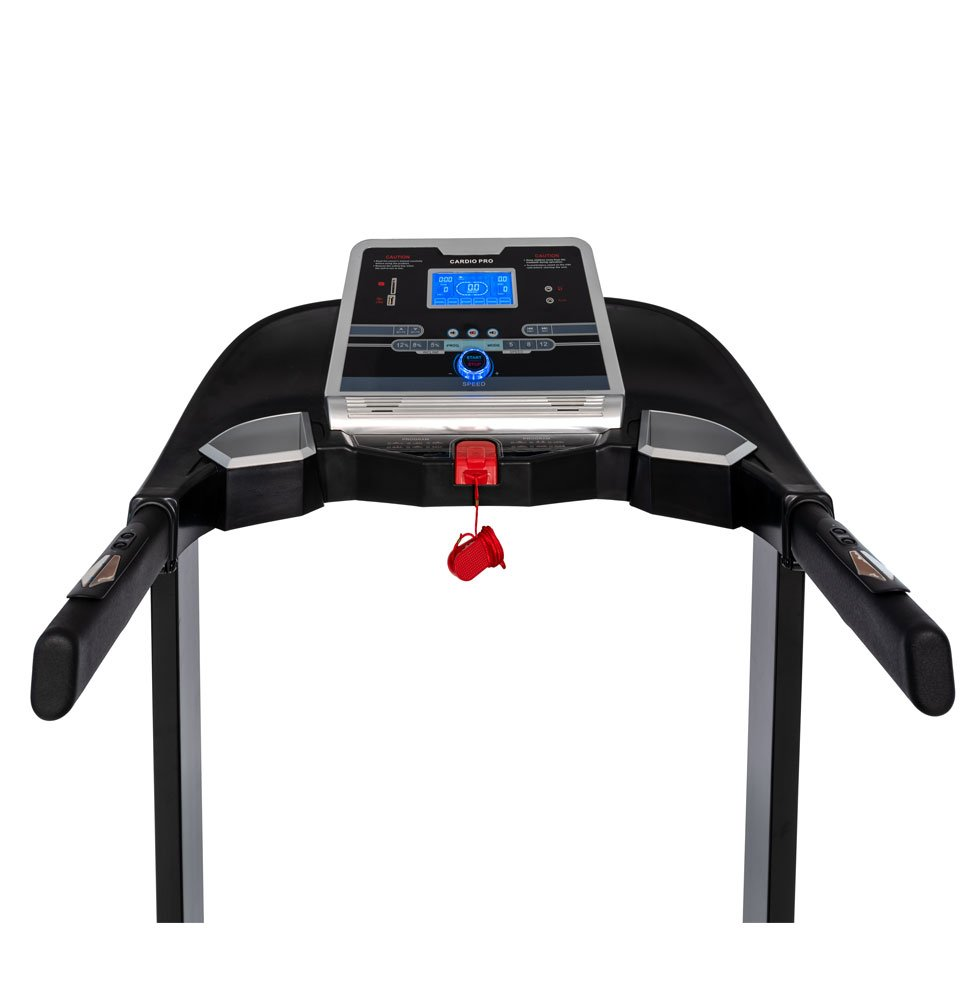 51GXjori01L - Branx Fitness Foldable 'Cardio Pro' Touchscreen Console Treadmill - 17.5km/h - 6hp - 0-20 Level Auto Incline - Body Fat Readout - Soft Drop System - Smart Deck Suspension Points