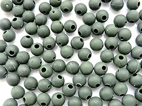 Impact Beads / Shock Beads - 8mm - Green - 50 pack