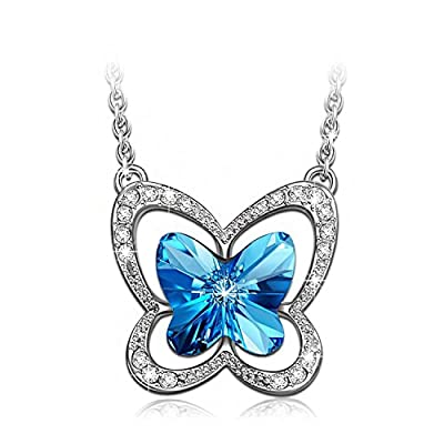 LADY COLOUR - Butterfly Charm - Necklace for Women with Crystals from Swarovski - The Nature collections