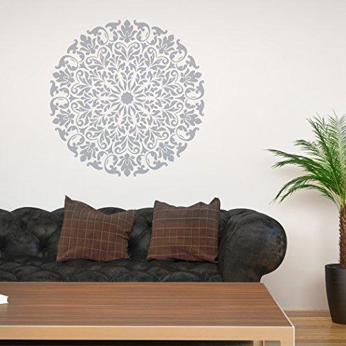 Plantillas de mandala, diseño tribal J BOUTIQUE, para decorar tú mismo las paredes, hogar moderno, plantillas decorativas., plástico, 111cm in diameter