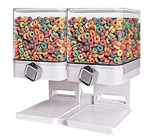 Geschenkbox Caja de Regalo dispensador de Cereales Doble dispensador Cuadrado Blanco Aprox. 2 x 500 g