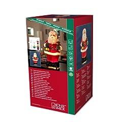 Idea Regalo - Konstsmide 4310-550 Babbo Natale a LED in fibra ottica, trasformatore interno 12 V, 0,05 W, a scelta colorato o trasparente