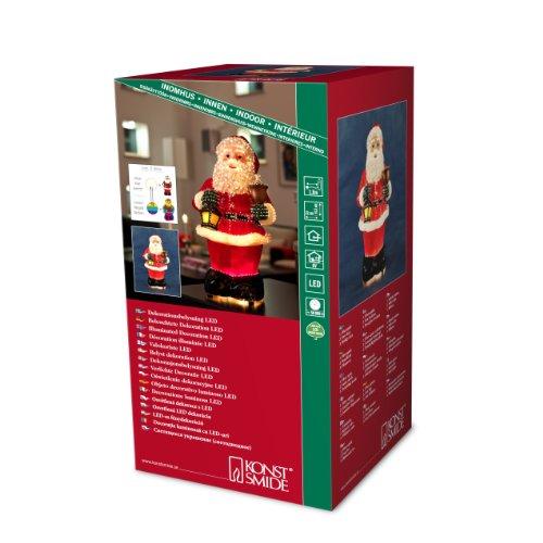 """Konstsmide 4310-550 LED Fiberoptikfgur \""""Weihnachtsmann\"""" / für Innen (IP20) / 6V Innentrafo / 1 kalt weiße Diode / schwarzes Kabel"""