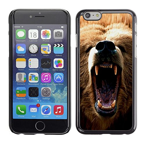 [ For APPLE IPHONE 6 / 6S (4.7 INCH) ][ Xtreme-Cover ] [ Hart Rückseite Schutzhülle Case ] - Majestic King Of The Jungle Lion - King 6 Lion-iphone Fall