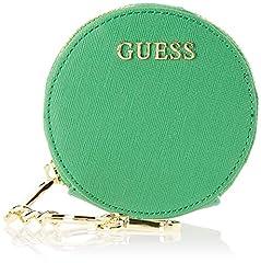 Idea Regalo - Guess Did I Say 90, Portamonete Donna, Verde (Green), 10.5x10.5x2.5 cm (W x H x L)