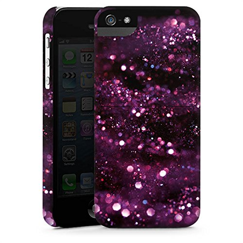 Apple iPhone X Silikon Hülle Case Schutzhülle Glitzer Muster Lila Premium Case StandUp