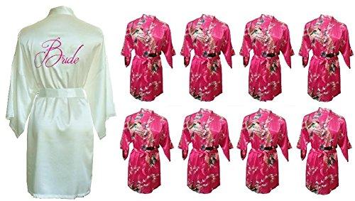 Fete Fabulous - Robe de chambre - Femme Fuchsia & Ivory
