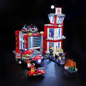 BRIKSMAX Kit di Illuminazione a LED per Lego City Caserma dei Pompieri, Compatibile con Il Modello Lego 60215 Mattoncini… 0716852283422 LEGO