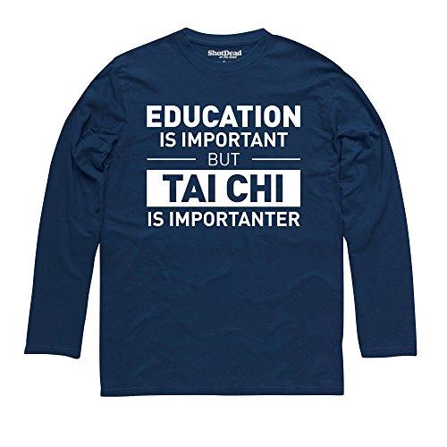Education Tai Chi Langarmshirt, Herren Dunkelblau