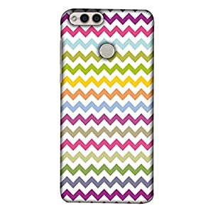 Printfidaa Huawei Honor 7X, BND-L21, BND-L22, BND-L24 Mate SE, BND-AL10, BND-TL10 Back Cover Seamless Chevron Pattern On Paper Texture Printed Designer Back Case.