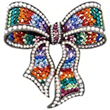 Butler and Wilson Large Multi Crystal Bow Brooch