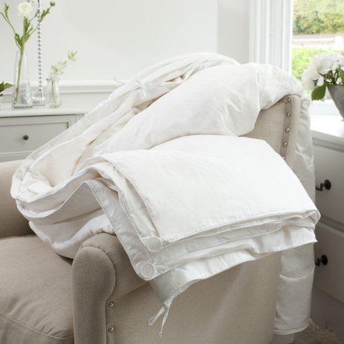 Jasmine Silk, tutte le stagioni (4,5 Tog), 9 Tog, imbottito, 100% Seta di gelso, Piumino per letto singolo, 140 x 200