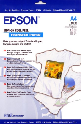 Epson C13S041154 Iron-on-transfer Paper A4 10 Blatt Pack