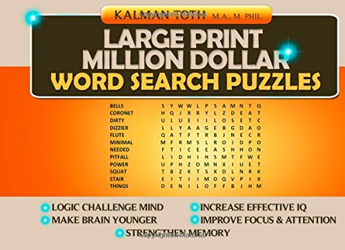 Large Print Million Dollar Word Search Puzzles