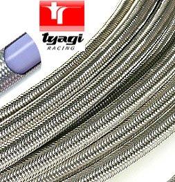 Tyagi Racing Edelstahl geflochten PTFE Fuel Line ID 1/5,1cm 12mm -