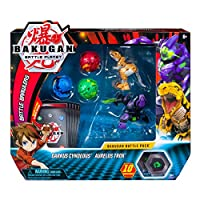 Bakugan, Battle Pack 5 Pack, Darkus Cyndeous & Aurelus Trox, Collectible Cards & Figures, for Ages 6 & Up