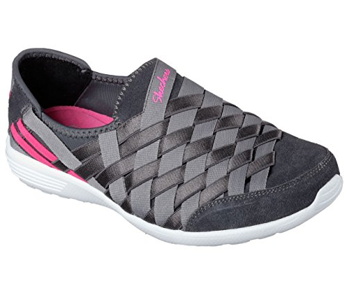 "SKECHERS Damen Slipper ""STARDUST - Destiny"" AIR-COOLED MEMORY FOAM 22807 charcoal/gray"