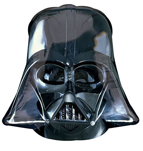 rty und Dekoration - Folienballon Super Shape - Star Wars - Darth Vader, circa 63 x 63 cm ()