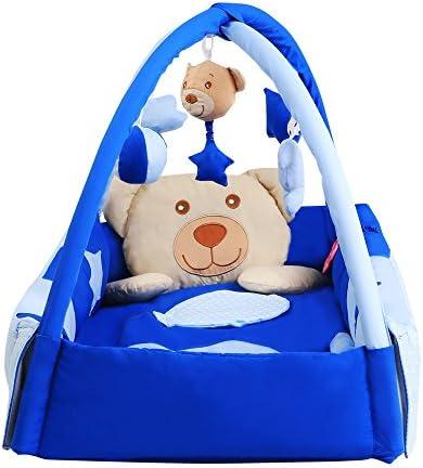 Mixibaby Mixibaby Mixibaby Doudou ours Tapis d'éveil/Tour de lit avec Arche de jeu – 3 en 1   Belle En Couleurs  04c96d