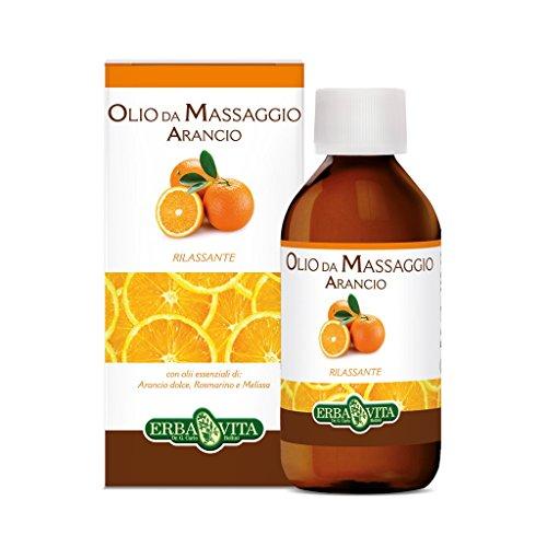 Erba Vita Olio Massaggio Arancio - Flacone da 250 ml