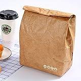 AKDSteel Wasserdichte, wiederverwendbare Brotdose Auslaufsicherer, isolierter Tyvek-Brotbeutel aus braunem Papier für Bürostudenten