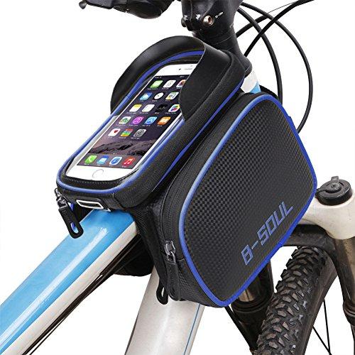 Cocohot Wasserdichte Front Frame Head Storage Pouch Fahrrad Taschen Blau