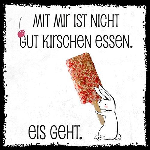 how about tee? - gut Kirschen essen. Eis geht - Design by SeelenSchwester - stylischer Kühlschrank Magnet mit lustigem Spruch-Motiv - zur Dekoration oder als Geschenk (Eis Kühlschrank Mit)