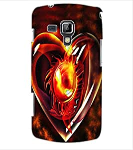 ColourCraft Love Creative Heart Design Back Case Cover for SAMSUNG GALAXY S DUOS S7562