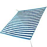 PENGFEI Sichtschutznetz Sonnensegel Plane Draussen Verschlüsselung Gartenarbeit Pflanze Sonnencreme Atmungsaktiv Anti-UV Carport, Mehrere Größen (Farbe : Blue+white, größe : 2x3m)