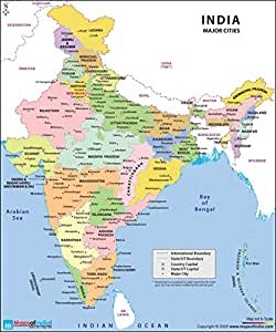recent map of india Maps Of India Latest India Map With Capitals And 2020 Edition recent map of india
