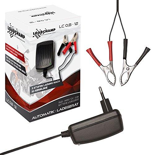 Automatik 12V 0.8A Blei Akku Ladegerät für 1,2Ah 3,4Ah 4Ah 4,5Ah 7Ah 7,2Ah 9Ah 10Ah 12Ah 15Ah Batterie