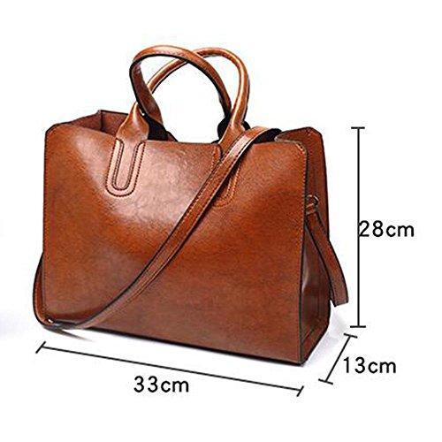 Frauen Handtasche 8-Farben-Mode Handtaschen Retro-Tasche Tasche wilde Schulter Messenger Tasche einfache Öl Wachs Leder Tasche 27