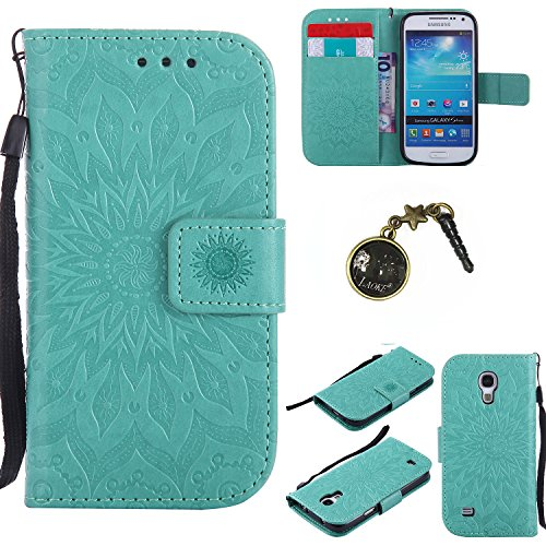 Preisvergleich Produktbild PU Silikon Schutzhülle Handyhülle Painted pc case cover hülle Handy-Fall-Haut Shell Abdeckungen für (Samsung Galaxy S4 Mini i9190 / i9195) +Staubstecker (2FF)