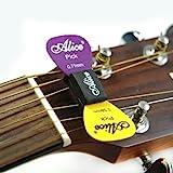 Alice Support de médiator pour guitares acoustiques et électriques dotées de 3 chevilles par côté