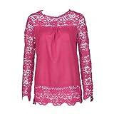 IMJONO Damen Schwarz weiß Karierte Bluse Blusen Tunika schöne Damenblusen Baumwollbluse Hemd taillierte Gestreifte Hemdbluse Damenbluse Marken bügelfreie (EU-46/CN-4XL,Leuchtendes Rot)
