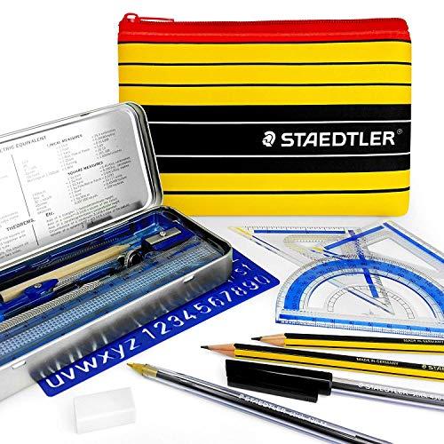 Staedtler Noris Club Federmäppchen-Mathematik-Set, enthält wesentliche Schul- und College-Mathematik-Utensilien, mit passendem Staedtler Federmäppchen College-set