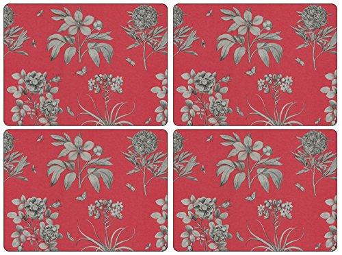 pimpernel-portmeirion-etchings-e-rose-legno-rosso-piccolo-set-di-4