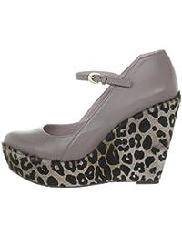 Miezko Naomi - Zapatos de vestir de Piel Lisa para mujer Marrón funghi