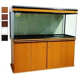 Boyu Aquarium avec meuble, pour aquariums d'eau de sel/tropicales, acajou, avec éclairage T8, 153cm 520L