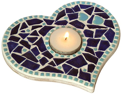 Mosaic Craft Kit for a Tea Light Base, blue