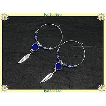 Ohrringe FEDER Messing 925 Silber blau Harz strass Swarovski-Kristall personalisierte Geschenke Weihnachten Jubiläumszeremonie Hochzeitsgäste Muttertag