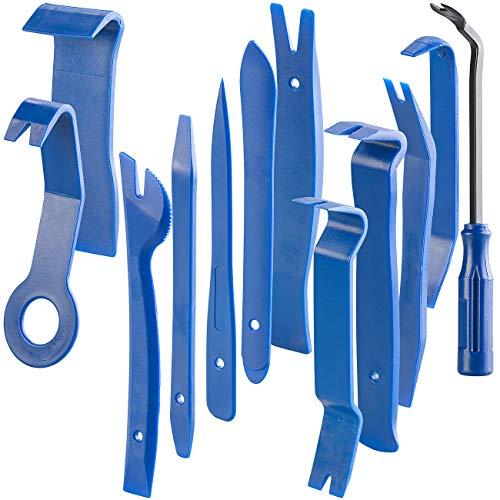 AGT Auto Demontage Werkzeug: 12-teiliges Zierleistenkeile-Set für Auto, Möbel und Renovierung (Autowerkzeug)