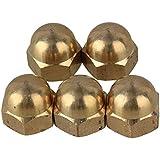 BQLZR 14mm Dia Latón Bellota tuercas hexagonales estándar amarillo M8para diversas industrias, 5unidades)