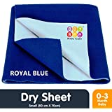 Bey Bee Waterproof Bed Protector for New Born Babies and Kids, Small, Royal Blue (70 cm x 50 cm)