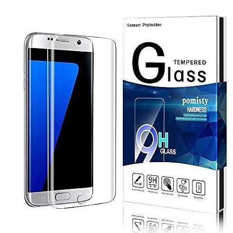Galaxy S7 Edge Panzerglas Schutzfolie ,Pomisty S7 Edge Panzerglas Displayschutzfolie, Full Coverage Anti-Kratzen Glas Folie mit Samsung Galaxy S7 Edge. (Samsung galaxy S7