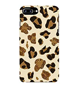 For Apple iPhone 7 Plus black brown pattern, pattern, gold pattern Designer Printed High Quality Smooth Matte Protective Mobile Pouch Back Case Cover by BUZZWORLD