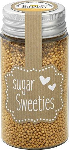 (5,27EUR/100g) Zucker-Dekore Nonpareilles gold Zuckerperlen Gebäck dekorieren