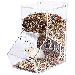 OTENGD Alimentador de hámster Alimentador de tazón de Fuente de Comida Plato de alimentación Recipiente de Animales pequeños para pequeños Animales Palomas Loros Mini Erizo Cobayu Chinchilla Hurón