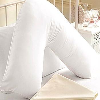 Iyan Linens Ltd Large Back /& Neck Nursing Support Non Allergenic Orthopedic//Pregnancy V Shaped Maternity Pillow