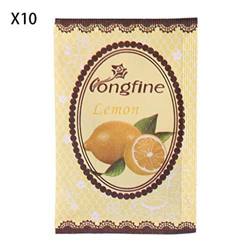 A0127 Sachet de Parfum Fleur de Lavande Assainisseur d'air Huile d'épice Naturelle Sac de Parfum Déodorant 10 Sacs (Citron)